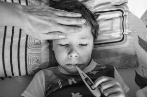 子供がインフルエンザや水ぼうそうなどの感染症にかかった時